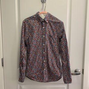 Jcrew men's button down paisley shirt size XS